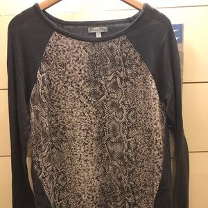 Olivia Sky NWT sheer front sweater sz M